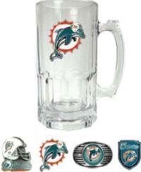 Buy Miami Dolphins Large 32 0z. Glass Mug at wholesale prices