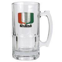 Miami Hurricanes 32 oz. Large Glass Mug