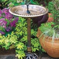 China Victorian Pedestal Bird Bath and Solar Fountain on sale