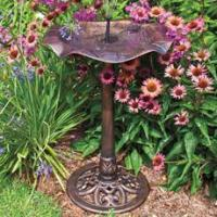 China Waterlily Bird Bath and Solar Fountain on sale
