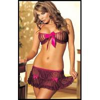Quality Sexy Silk Satin Bra Set H2134 Plum/Brown for sale