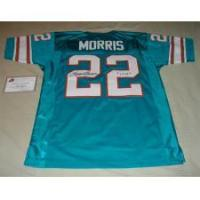 China MERCURY MORRIS AUTOGRAPHED DOLPHINS THROWBACK JERSEY W/17-0 on sale