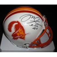 Quality Mike Alstott Autographed Tampa Bay Bucs THROWBACK Mini Helmet for sale