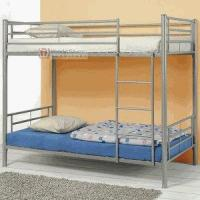 White Finish Twin Full Futon Bunk Bed 2 Tube Bed