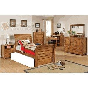 Twin Bed With Trundle Dark Brown Item Bk800 Cappuccino