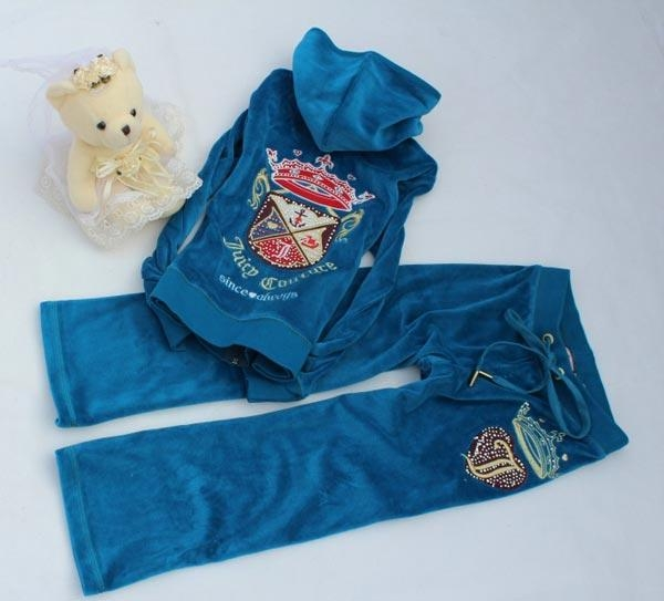 China Juicy Couture Girls Velour Tracksuits - Velour Hoodies 8030 ( 4 Color)