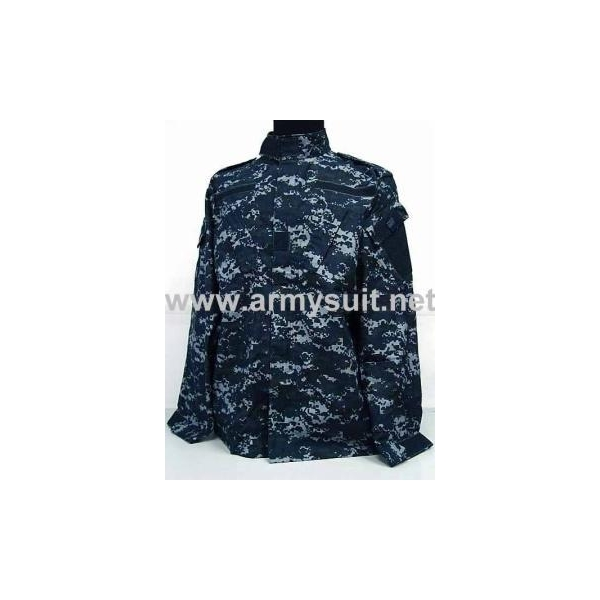 MILITARY CLOTHING ACU Style Navy Blue Camo Uniform Set