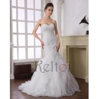 Quality Mermaid Sweetheart Sweep Train Tulle Bridal Dress(DN6909) for sale