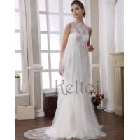 Buy cheap Empire Scoop Neck Sweep Train Veil Bridal Wedding Dress(DN6906) from wholesalers