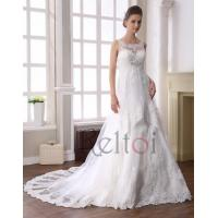Quality Empire Scoop Neck Sweep Train Tulle Bridal Wedding Dress(YR800) for sale