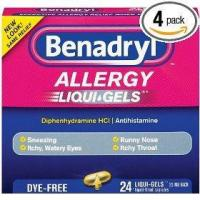 Benadryl dye-free allergy reliefs, 24-count liqui-gels (pack of 4)
