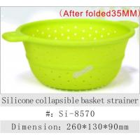 kitchenware Silicone collapsible basket strainer
