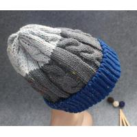 China Cable knitted winter hats men's beanie hat on sale