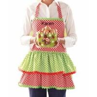 Quality Monogrammed Christmas Apron - Personalized Holiday Apron for sale
