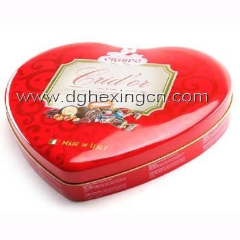 Buy Upmarket heart shaped chocolate tin box at wholesale prices
