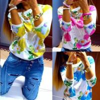 Quality Women Spring Printing Hoodies Sweatshirt Sexy Tops Pullovers for sale