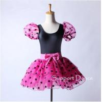 Quality Costume Collection Product name:Polka Dot Puff Sleeve Ballet Tutu Dress C148 for sale