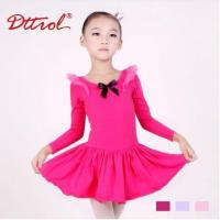 Quality Costume Collection Product name:Support-Dance Girls Long Sleeve Bow Ballet Dress DB85 for sale