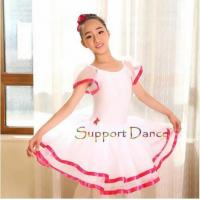 Quality Costume Collection Product name:Dance Flare Sleeve Ballet Tutu Dress C41 for sale
