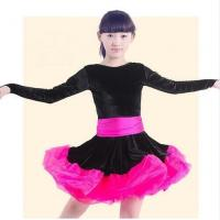Quality Costume Collection Product name:Long Sleeve Latin Dance Dress Performance Dancing Costume LAT24 for sale