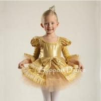 Quality Costume Collection Product name:Support Dance Gold Butterfly Sleeve Tutu Dress C37 for sale