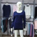 China Cashmere Sweater Ladies' Scoop Neck Pattern Pullover 1703106 on sale
