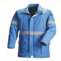 Buy cheap Cotton Winter Men Fireproof Working Safety Jackets with Reflector from wholesalers