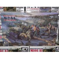 China Plastic Model Kits AFV Club 1/35 35182 105mm Howitzer M2A1 & Carriage M2A2 WWII Late Version on sale