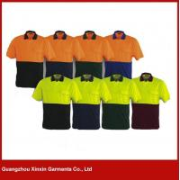 Buy cheap hot sale cotton orange black work uniform shirts cheap for engineer W73 from wholesalers