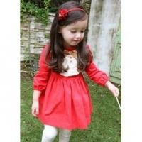 China 2012 Spring Models, Long Sleeved Dress Princess Cute Small Red Dress 2PCS on sale