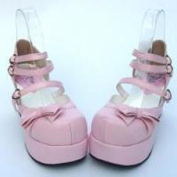Buy cheap Apparel & Accessories Amanda99 7.5cm Heel With 4.5cm Platform Pink PU Lolita Shoes from wholesalers