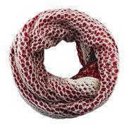 Quality Mermaid style red and white special knitted loop/acrylic scarves for sale