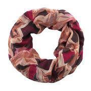 Quality 17 fashionable star and maple printing polyester/double-layered snood, berry for sale