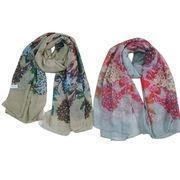 Quality Summer printed scarves, made of 100% polyester, suitable for ladies for sale