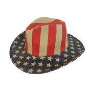 Quality USA Flag Pattern Men's Cowboy Hats for sale