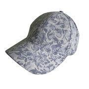 Quality Floral Lace Panel Vented Adjustable Precurved Baseball Cap, Hat, Blue for sale
