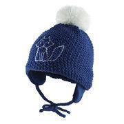 Buy cheap Babies' knitted hat with earflaps, big pompon and embroidery from wholesalers
