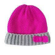 Buy cheap Winter Fuchsia Hat Girl's 100% Acrylic Knitted Hat from wholesalers