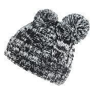 Buy cheap Babies' knitted hat with turnup and two pompoms from wholesalers