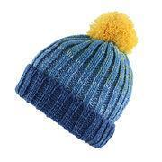Buy cheap Babies' knitted hat with turnup and big pompom from wholesalers