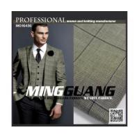 Quality MG16436 men's suiting fabric with spandex check design sale on line for sale