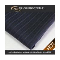 Quality Black pinstripe affordable suits fabric for party for sale