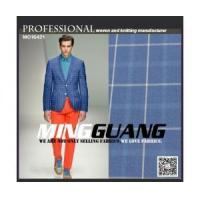 Quality New arrival big check design polyester viscose material suit fabric from china supplier for sale