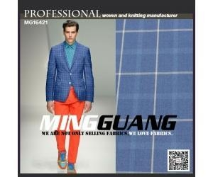 China New arrival big check design polyester viscose material suit fabric from china supplier