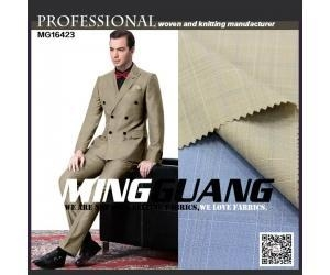 China MG16423 New check hopsack tr suit fabric china manufacturer