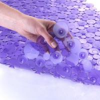SlipX Solutions Sea of Circles Bath Mat - Purple-Bathtub Mats