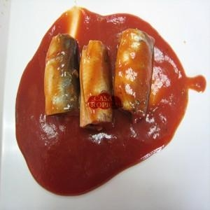 China 125g canned mackerel fillets in tomato sauce