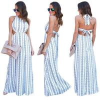 China Floral Backless Halter Maxi Dress 25279 #25279 on sale