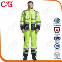 Buy cheap Arc Flash Raincoat Waterproof Coverall 20Cal/cm2 from wholesalers