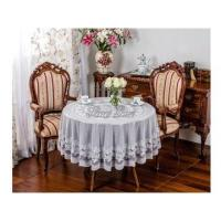 China Vinyl Embossed Lace Tablecloth on sale